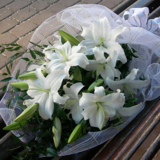 """Букет  лилий """"Айсберг"""": букеты цветов на заказ Flowwow"""