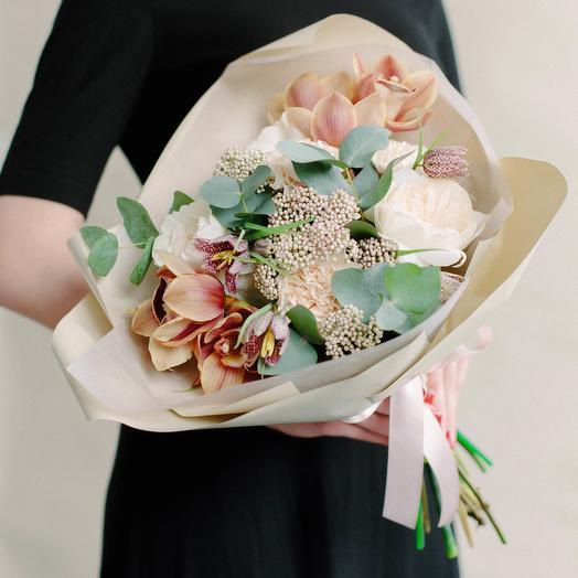 Кофейный: букеты цветов на заказ Flowwow