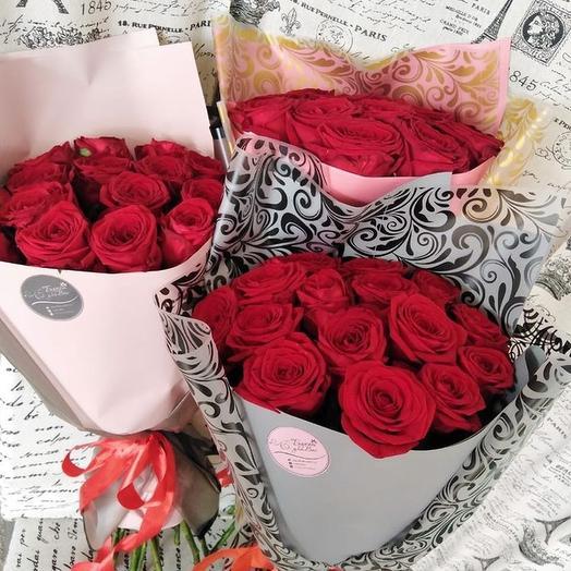 Моей Королеве (букет из 15 роз)