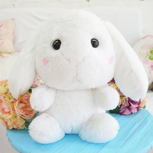 Заяц Банни 45 см белый: букеты цветов на заказ Flowwow