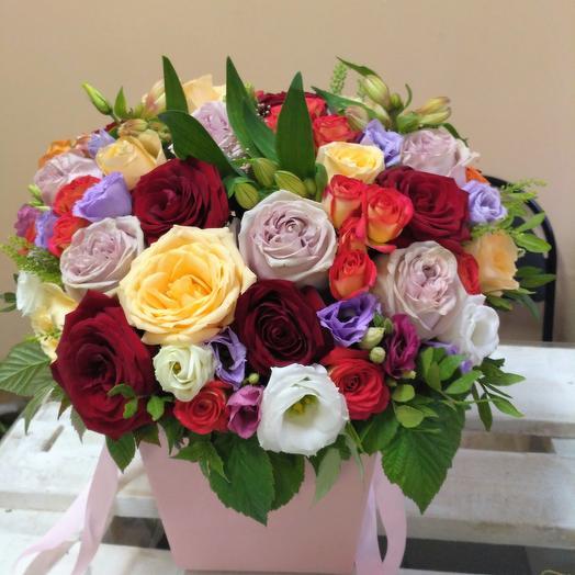 """Цветочный бокс 2 """"Вдохновение цветами"""""""": букеты цветов на заказ Flowwow"""