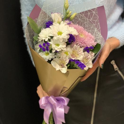 Мини букет «нежная улыбка»: букеты цветов на заказ Flowwow