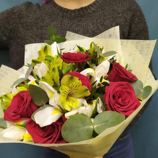 "Букет ""любимой"": букеты цветов на заказ Flowwow"