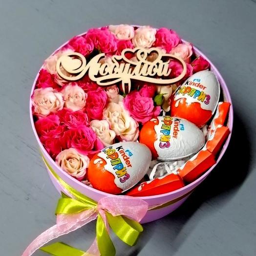 """Большая коробка """"ЛЮБИМОЙ: букеты цветов на заказ Flowwow"""