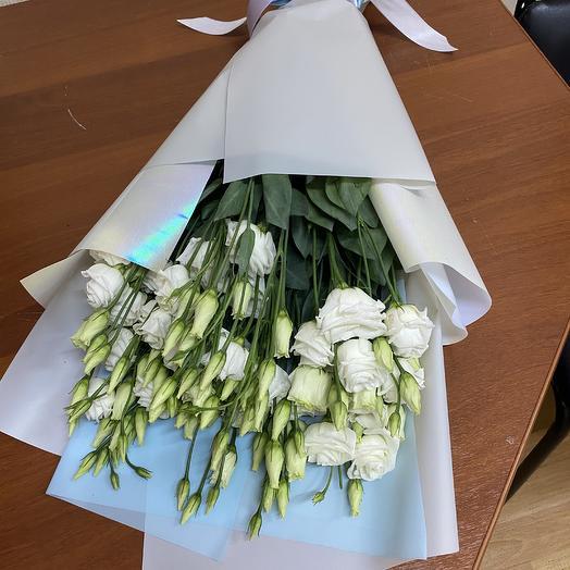 Букет из белых эустом (9 шт ): букеты цветов на заказ Flowwow