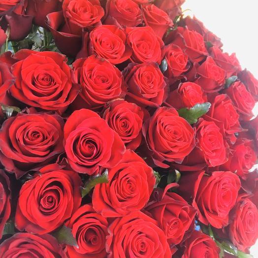 Букет 51-элитная красная роза