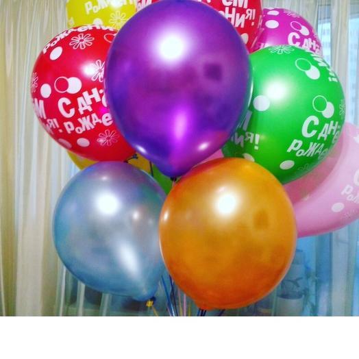 Микс воздушных шариков,фонтан состоит из 10 латексных шаров: букеты цветов на заказ Flowwow