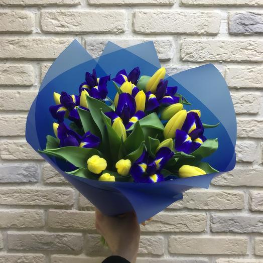 Тюльпаны с ирисами: букеты цветов на заказ Flowwow