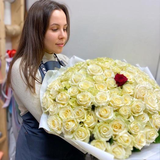 """Букет """"Единственная"""" из 101 розы"""