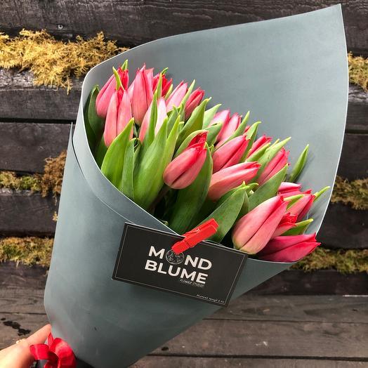 Букет Моно из тюльпанов