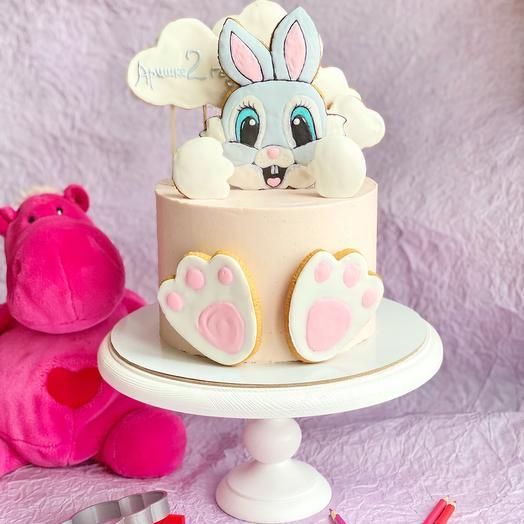 Детский сметанный торт с пряничками