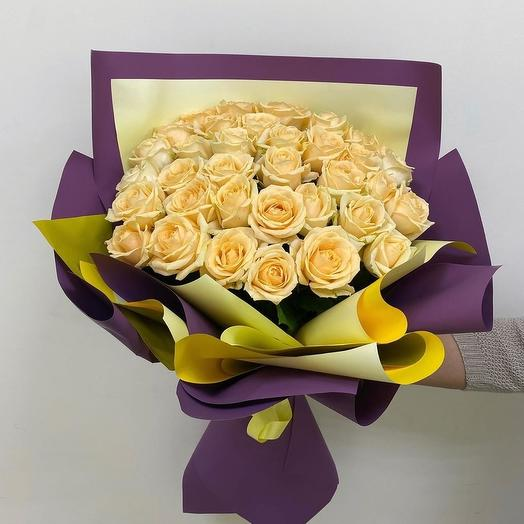 Крем - брюле, букет кремовых роз