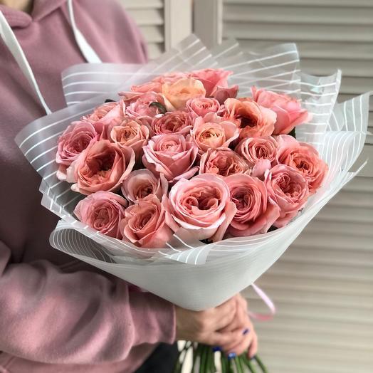 Букет  с розами 25 шт