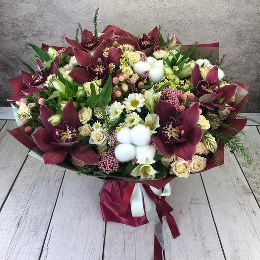 Букет «Винная Орхидея»