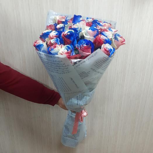 Необыкновенные высокие розы 25шт