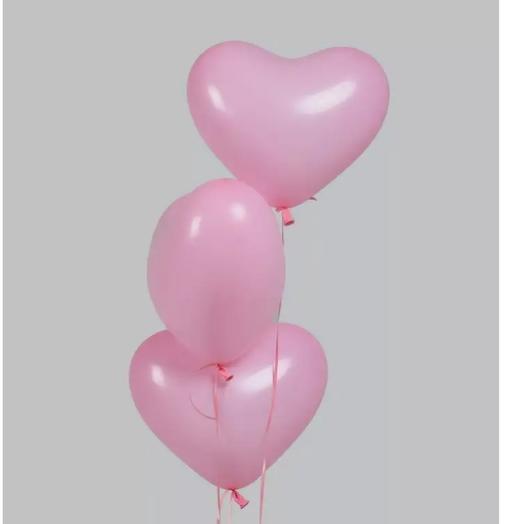 """Набор шаров """"Розовые сердечки 3"""""""