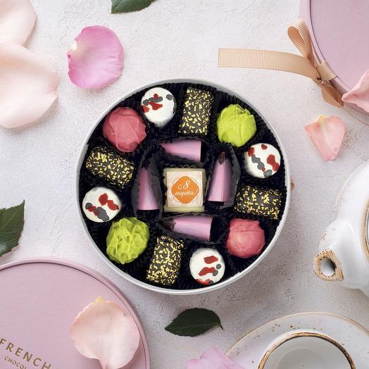 Шоколадный набор «Флоксы розовые мини», 210 г