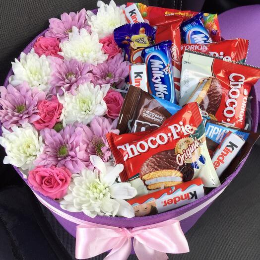 Цветы в коробке 04456