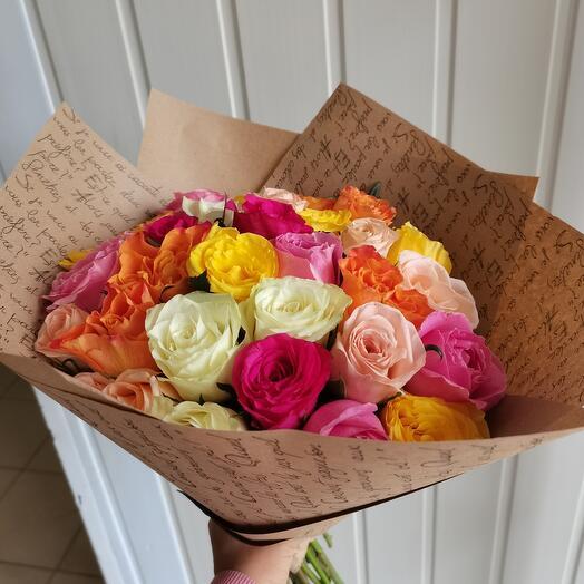 Роза микс 29шт