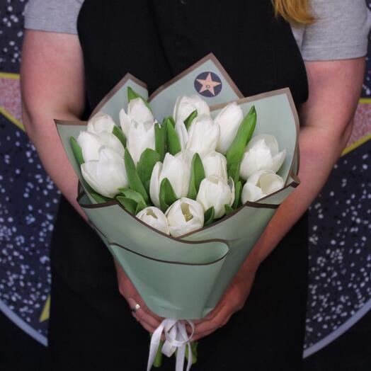 15 белых тюльпанов. Голландия