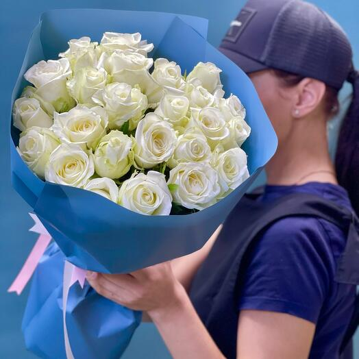 25 Белых роз Колумбии