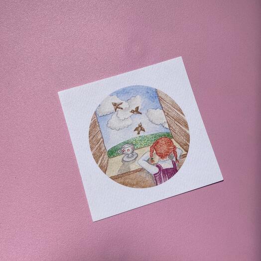Квадратная открытка