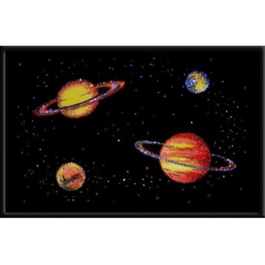 """Картина с кристаллами Swarovski """"Парад планет"""""""