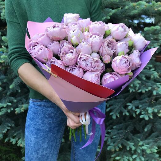 Лавандер пионовидные розы 9 кустов