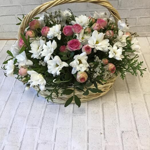 Корзина с цветами «Русское поле»