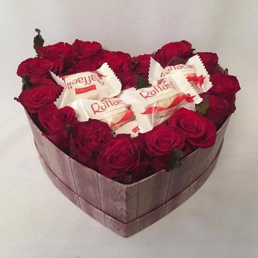 "Коробочка ""ЛЮБЛЮ!"": букеты цветов на заказ Flowwow"