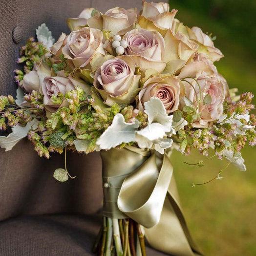Букет невесты «Миг счастья»: букеты цветов на заказ Flowwow