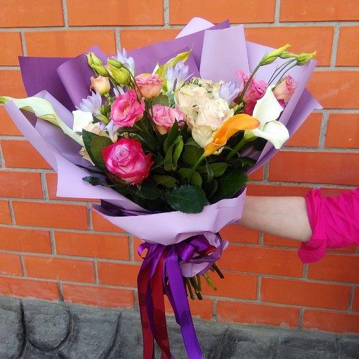 Фейерверк розы, калла тайландская роза: букеты цветов на заказ Flowwow