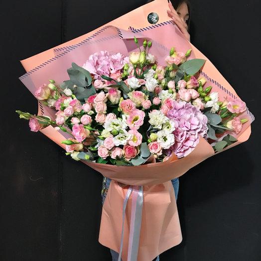 Облако с гортензиями: букеты цветов на заказ Flowwow