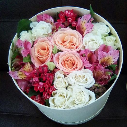 Шляпная коробочка: букеты цветов на заказ Flowwow