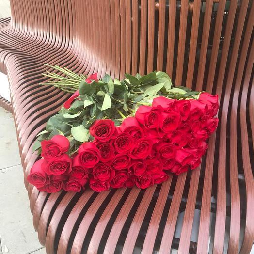 51 Красная роза 80 см.: букеты цветов на заказ Flowwow