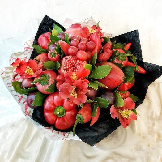 Огненный мачо: букеты цветов на заказ Flowwow