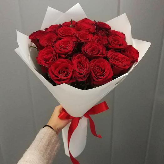 """Букет из 29 роз """"Самой нежной"""": букеты цветов на заказ Flowwow"""
