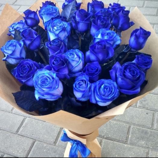 Букет синих роз: букеты цветов на заказ Flowwow