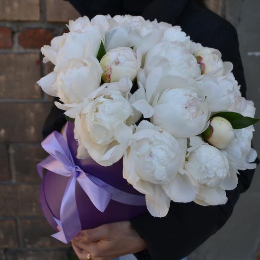 Peonies in purple: букеты цветов на заказ Flowwow