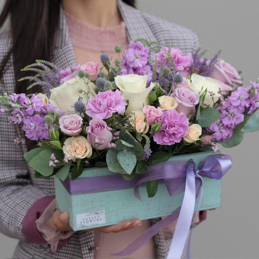 Сиреневая пудра: букеты цветов на заказ Flowwow