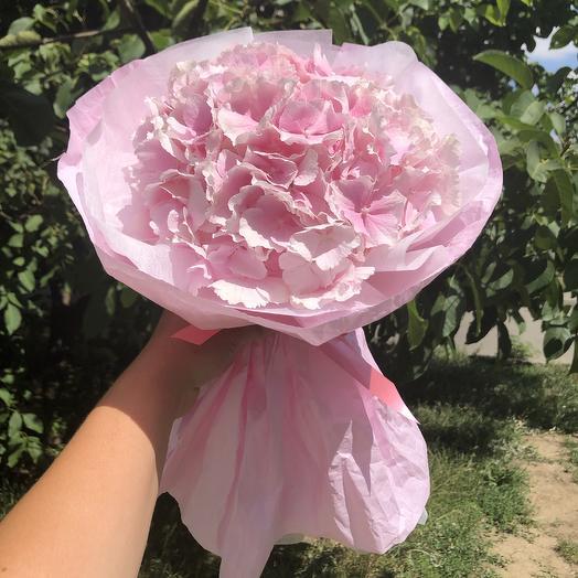 Гортензия с оформлением: букеты цветов на заказ Flowwow