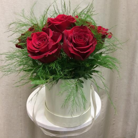Шляпная коробка «Только ты»: букеты цветов на заказ Flowwow