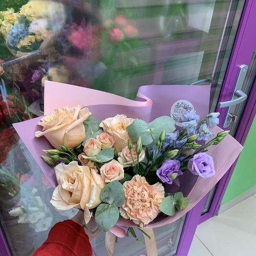 Букет бежево-сиреневый: букеты цветов на заказ Flowwow
