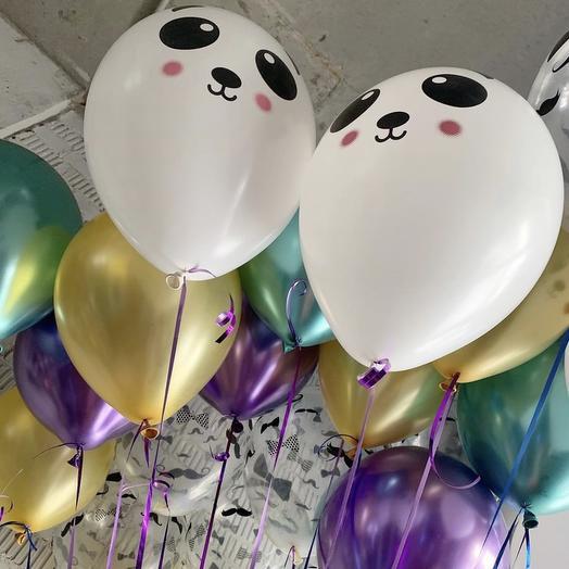 Воздушные Шары «Две панды»: букеты цветов на заказ Flowwow