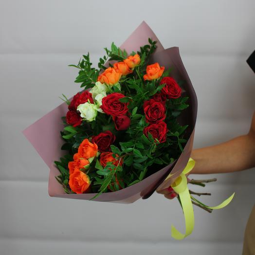 5 кустовых роз микс: букеты цветов на заказ Flowwow