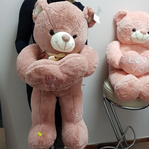 Лососёвый медведь 75см: букеты цветов на заказ Flowwow