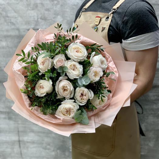 Кремовое  наслаждение «Кьяра»: букеты цветов на заказ Flowwow