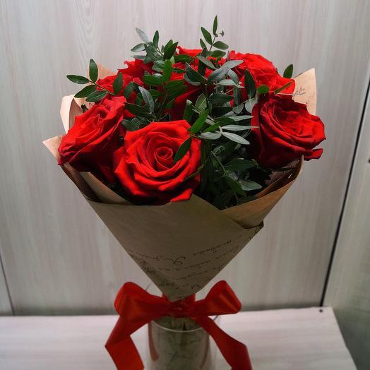 Красные розы 9