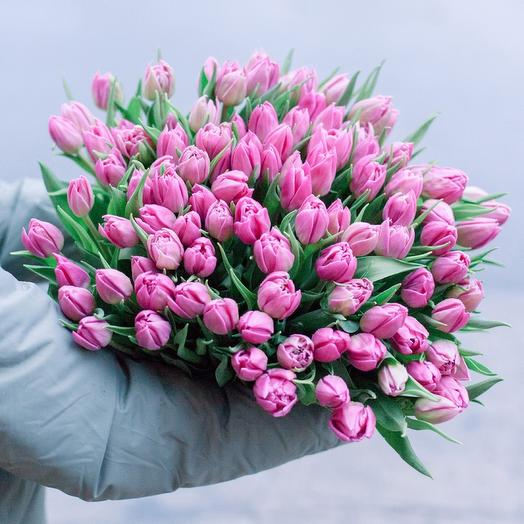 101 pink Tulip: flowers to order Flowwow