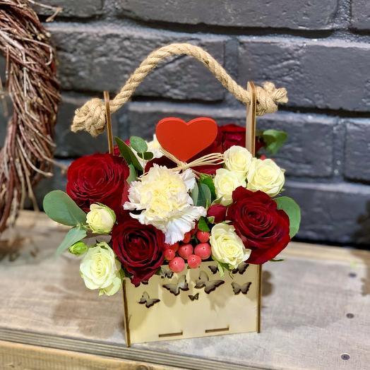 Композиция «Валентика»: букеты цветов на заказ Flowwow